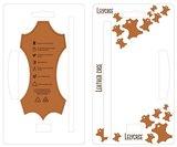 Lelycase Echt Lederen Booktype iPhone 12 (Pro) hoesje - Bruin_