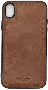 GALATA Back Cover iPhone Xs Max Hoesje Echt Leer - Cognac Bruin