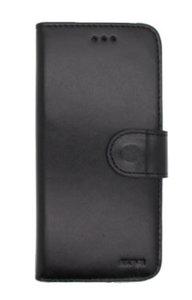 EkvaCase Echte Lederen Bookcase Samsung Galaxy A20e Hoesje - Zwart