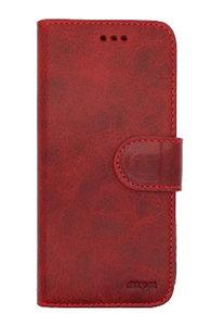 EkvaCase Echte Lederen Bookcase Samsung Galaxy A20e Hoesje - Rood