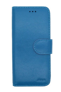 EkvaCase Echte Lederen Bookcase Samsung Galaxy A20e Hoesje - Blauw