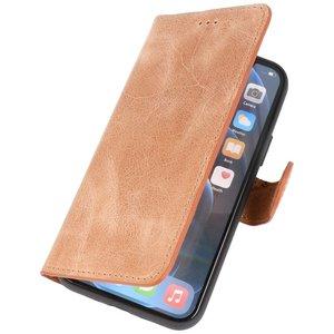 Lelycase Echt Lederen Booktype iPhone 12 Mini hoesje - Bruin