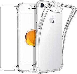 Shock Proof iPhone SE (2020) / 8 / 7 TPU Transparent Anti-Shock + 2x Screen